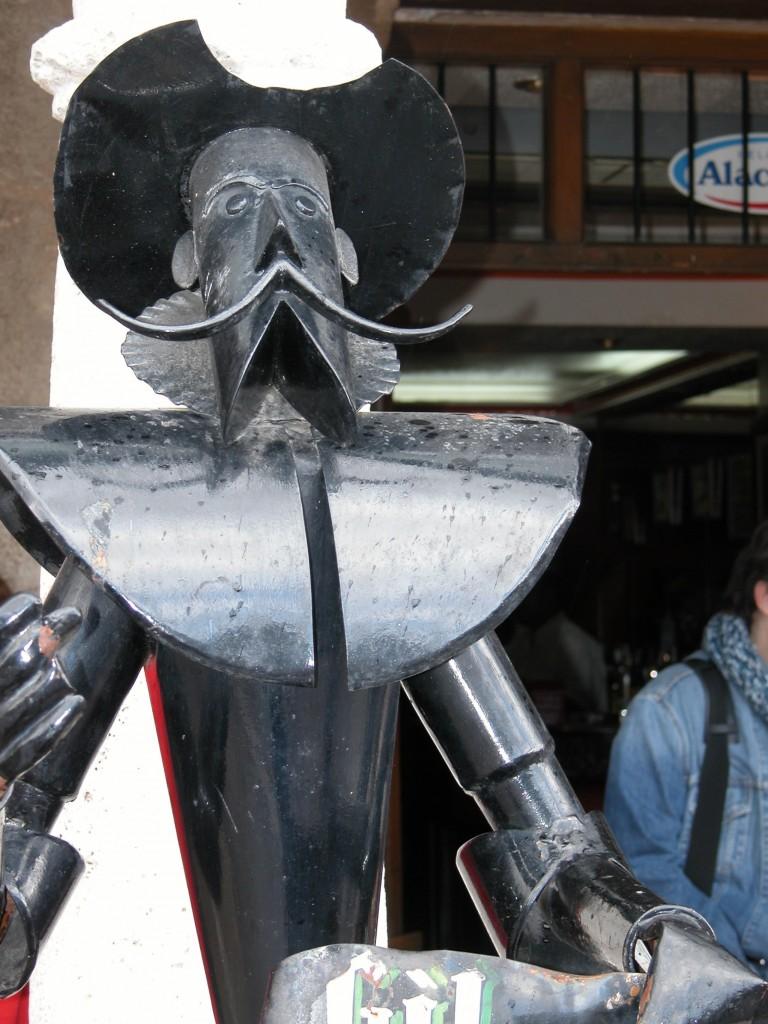 """Imagen: """"Quijote de metal"""", Ministerio de Educación."""
