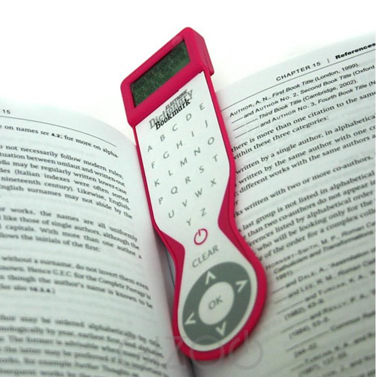 Marcapáginas con diccionario integrado