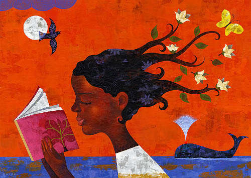 Esta imagen es del famoso ilustrador Rafael López (http://bit.ly/1qRpKhS). Podéis consultar su magnífica obra en www.rafaellopez.com