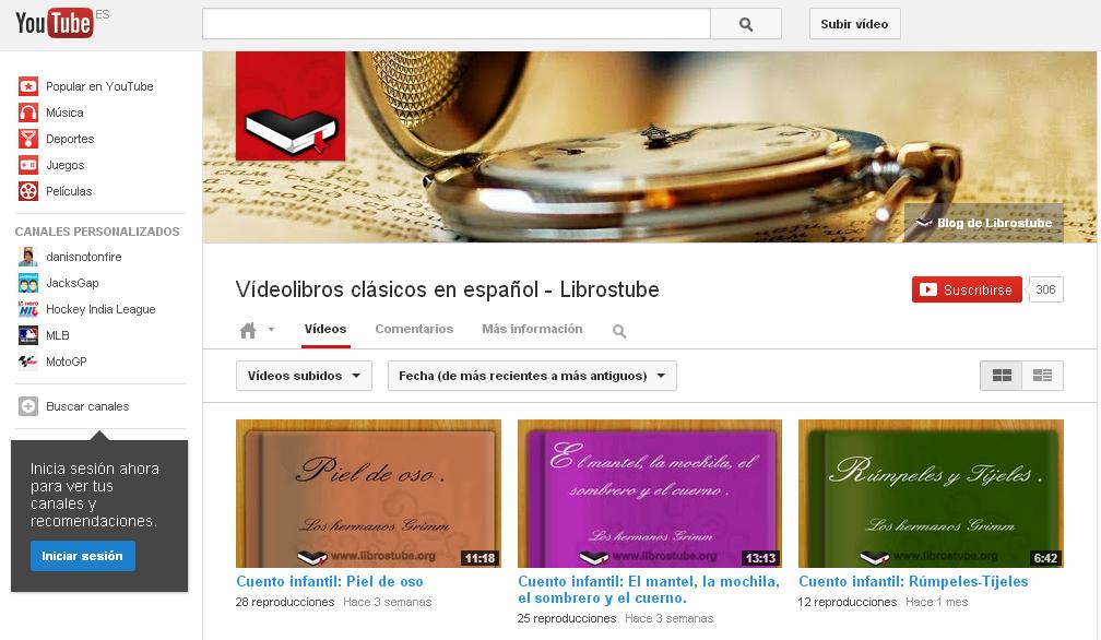 Libros en Youtube